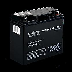 Акумулятор кислотний AGM LogicPower LPM 12 - 17 AH