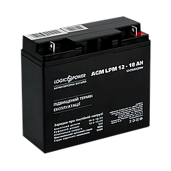 Акумулятор кислотний AGM LogicPower LPM 12 - 18 AH