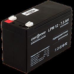 Акумулятор кислотний AGM LogicPower LPM 12 - 7,5 AH