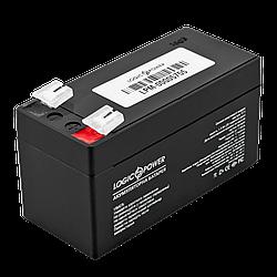 Акумулятор кислотний AGM LogicPower LPM 12 - 1,3 AH