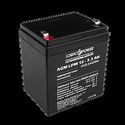 Акумулятор кислотний AGM LogicPower LPM 12 - 3,3 AH