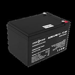 Акумулятор кислотний AGM LogicPower LPM 12 - 12 AH