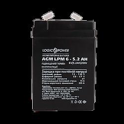Акумулятор AGM LogicPower LPM 6-5,2 AH