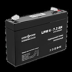Акумулятор AGM LogicPower LPM 6-7,2 AH