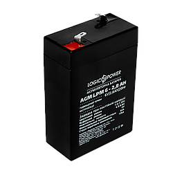 Акумулятор AGM LogicPower LPM 6-2,8 AH