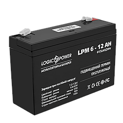 Акумулятор AGM LogicPower LPM 6-12 AH