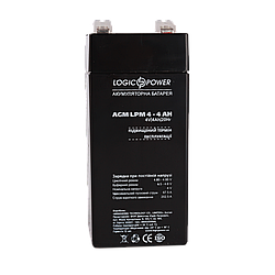Акумулятор AGM LogicPower LPM 4-4 AH