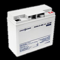 Акумулятор мультигелевый AGM LogicPower LP-MG 12 - 20 AH