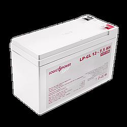Акумулятор гелевий LogicPower LP-GL 12 - 7,5 AH