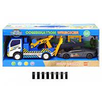 Машинка вантажівка - евакуатор з машинкою інерційна 7833
