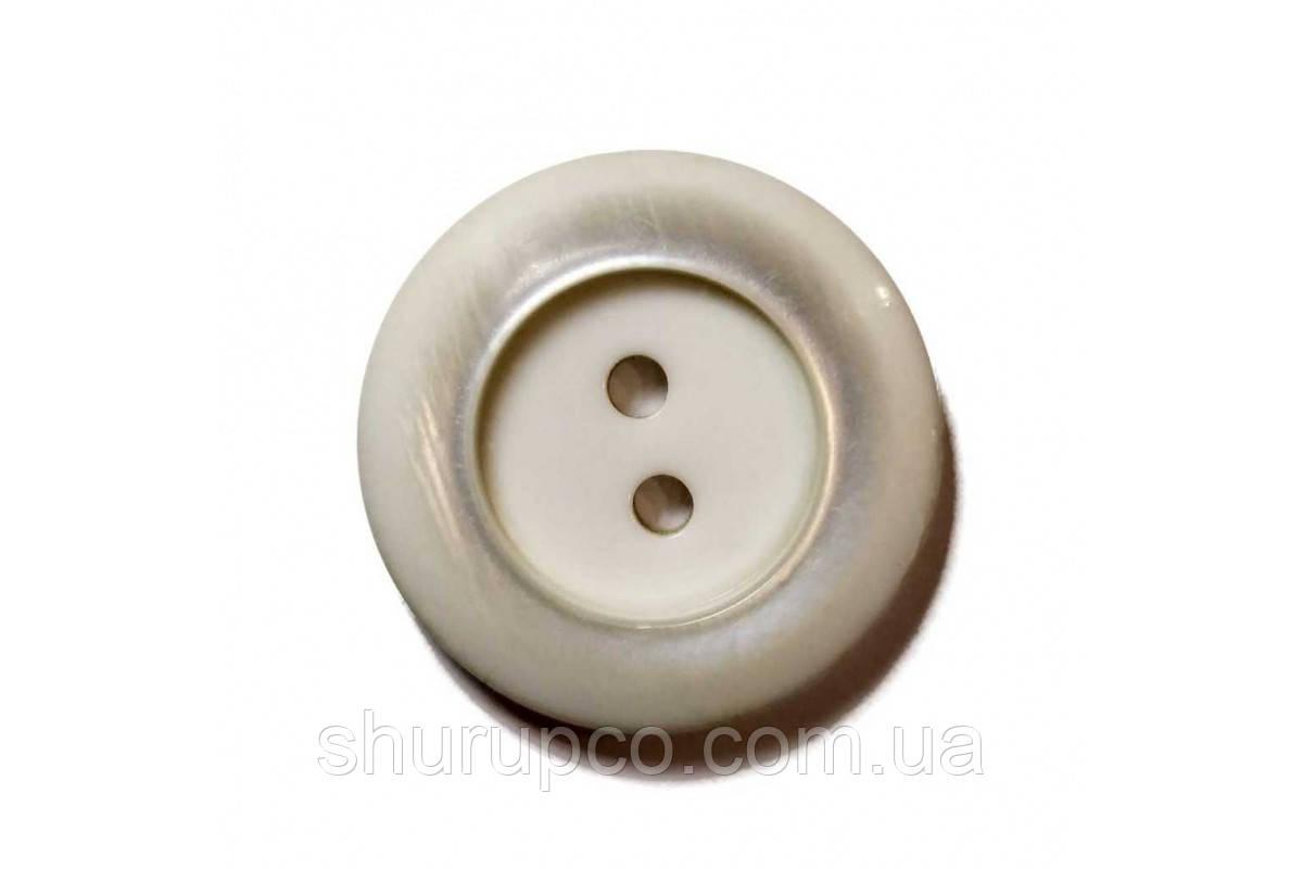 Пуговица на два удара 28 мм №8754 (100 шт)