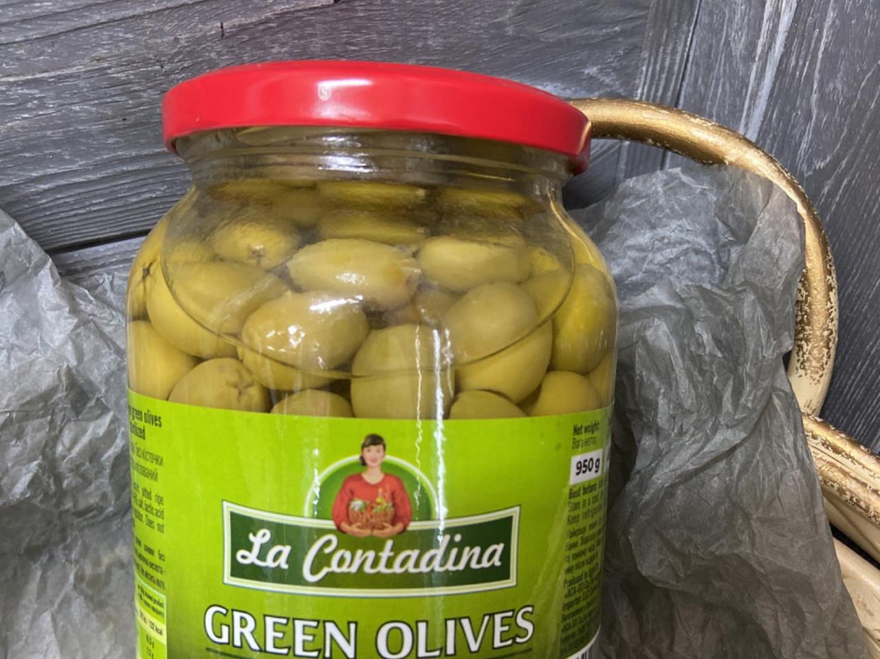 Оливки зелені без кісточки La Contadina 950g