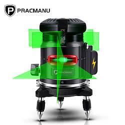 Лазерний рівень 5-лінійний 6-точковий PRACMANU BG5X11(зелений)