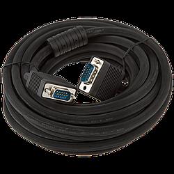 Кабель VGA-7.0BK LogicPower 7 м черный (с двумя ферритовыми кольцами)