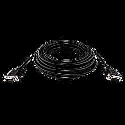 Кабель VGA-10.0BK LogicPower 10 м черный (с двумя ферритовыми кольцами)