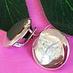 Серебряные серьги Монетки - Круглые серьги серебро - Крупные круглые серебряные серьги, фото 5
