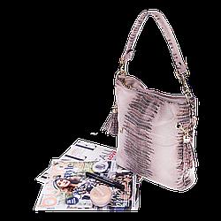 Жіноча сумка Realer P111 бежева