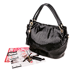 Жіноча сумка Realer P008 чорна