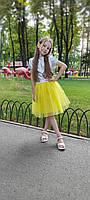 Яскрава святкова фатінова спідниця на дівчинку від 2 до 10 років 98-164 см, фото 1