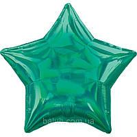 Зірка голограма зелена (43*43см)