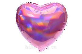 Серце голограма (Рожевий) 43*43