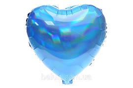Серце голограма (Синій) 43*43