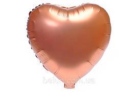 Серце сатин (Червоне золото) 43*43