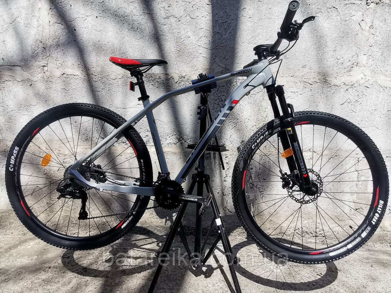 """Електровелосипед E-Crosser SHADOW 29"""" li-ion 13A 36V/500W (рама 19, 2*9) Hidraulic L-TWOO 2021"""
