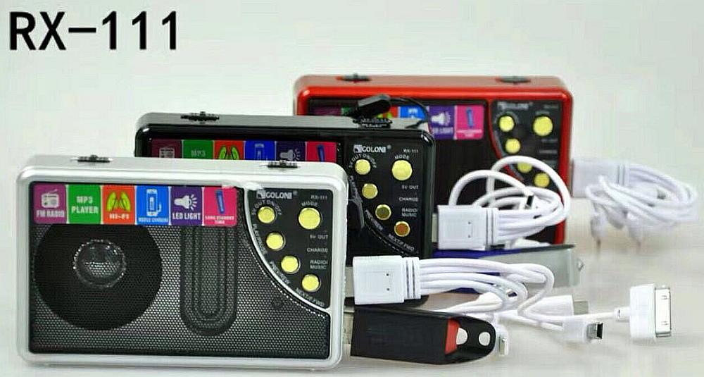 Радіо Golon Rx-111, Power Bank 10000 Mah , mp3, ліхтарик
