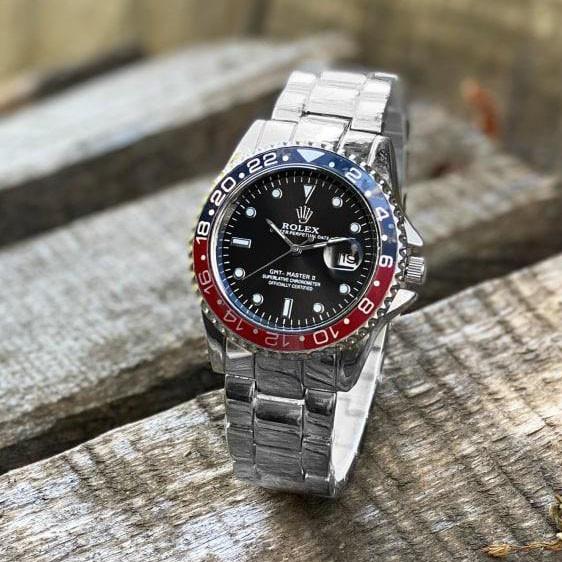 Стильные мужские часы Rolex Submariner 6478 Silver-Black 1020-1019