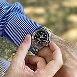 Стильные мужские часы Rolex Submariner 6478 Silver-Black 1020-1019, фото 2