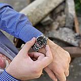 Стильные мужские часы Rolex Submariner 6478 Silver-Black 1020-1019, фото 3
