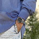 Стильные мужские часы Rolex Submariner 6478 Silver-Black 1020-1019, фото 6