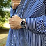 Стильные мужские часы Rolex Submariner 6478 Silver-Black 1020-1019, фото 4