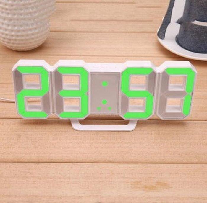 Електронні Led годинник з будильником і термометром Caixing Cx-2218, green