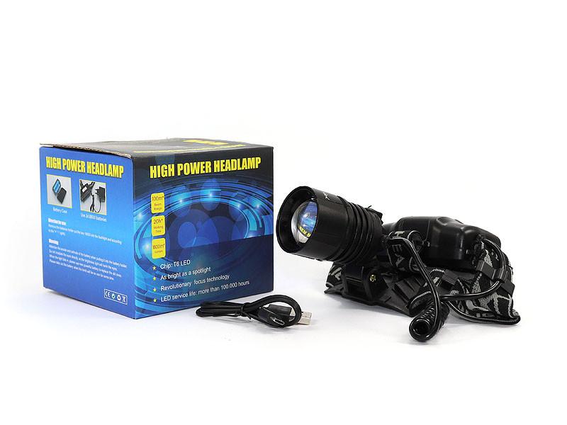 Ліхтар налобний Bailong 2x18650 micro USB BL-8053-P50 120шт 9886