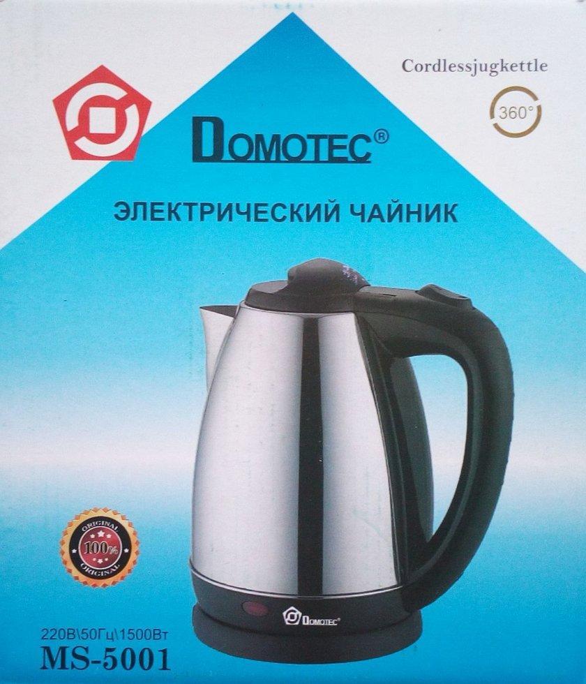 Электрический чайник Domotec Ms-5001, 1500Вт