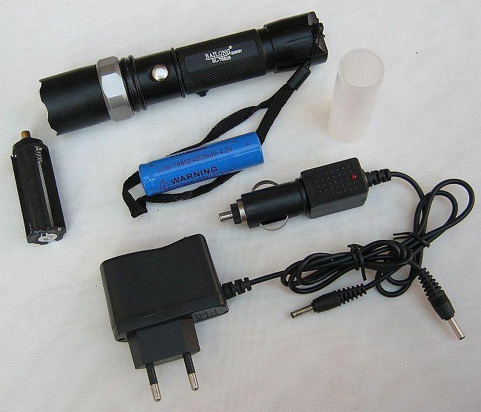 Тактичний ліхтарик BL-T8626, 20000W з мет.кнопкою