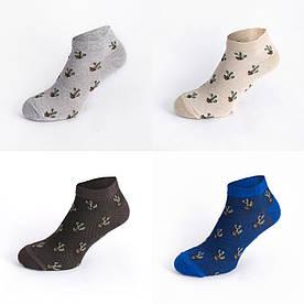 """Набір коротких шкарпеток в сіточку з 4 пар """"Кактуси"""""""