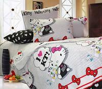 Хелло Китти на белом, Подростковый комплект постельного белья