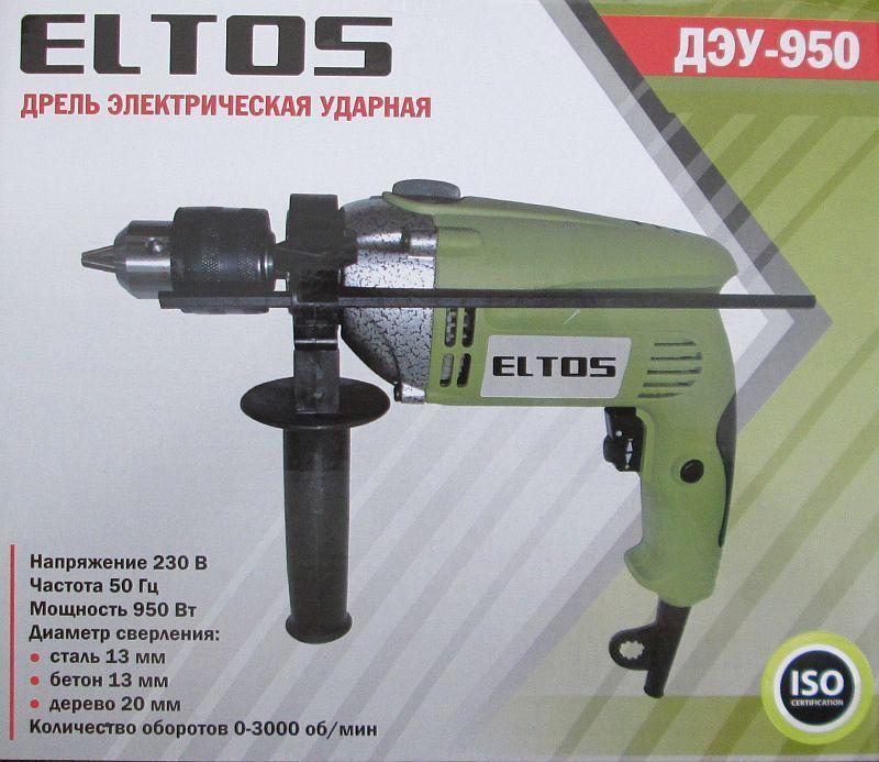 Дриль електрична ударний Eltos Деу-950 (металевий редуктор)