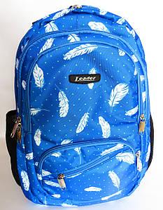 Школьный рюкзак с ортопедической спинкой, 4 отделения, Перья