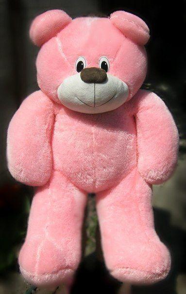 Дитяча м'яка іграшка - Ведмедик (рожевий 140см)
