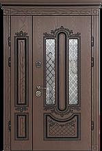 Двери уличные, PRESTIGE 1170*2050, модель 21-68, Полимерные накладки, стеклопакет, ковка