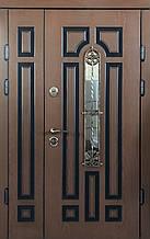 Двери уличные, PRESTIGE 1170*2050, модель 21-67, Полимерные накладки, стеклопакет, ковка