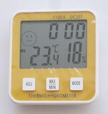 Термометр, гігрометр DC-107, з годинником, календарем