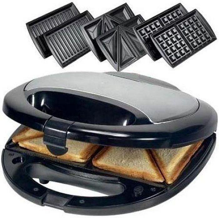 3 в 1 Гриль, бутербродница, вафельница Domotec Ms-0770, 750Вт