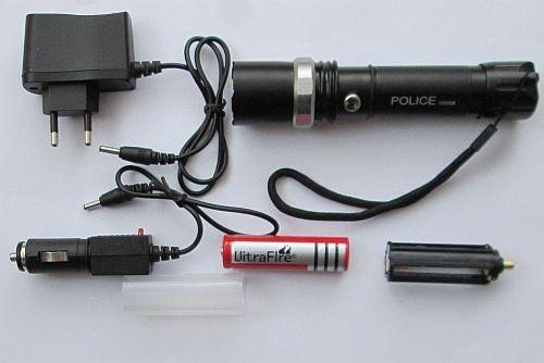 Ліхтар Police BL-8626 10000W (акумулятор, 2 зарядки, упаковка)