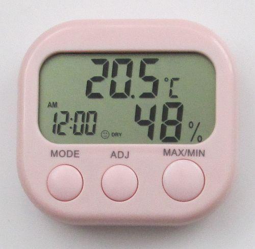 Термометр - гігрометр TA638 з годинником, календарем і будильником