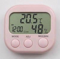 Термометр - гігрометр TA638 з годинником, календарем і будильником, фото 1